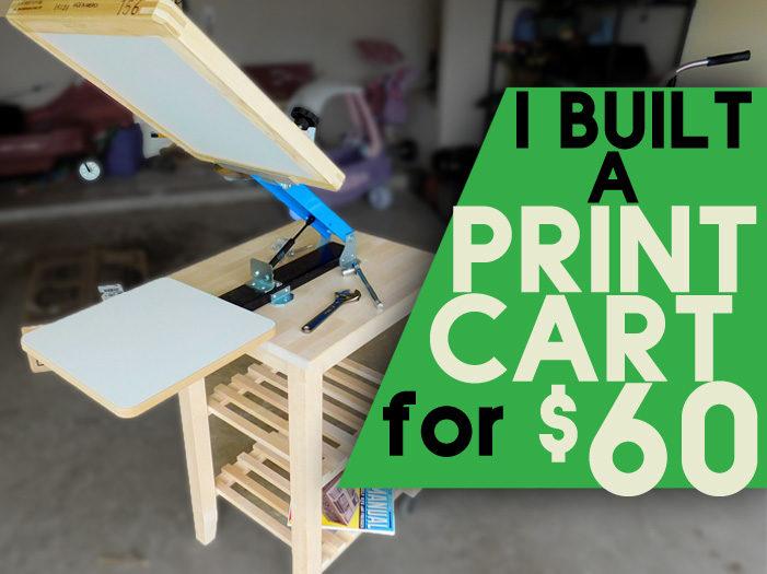 DIY Screen Printing Cart