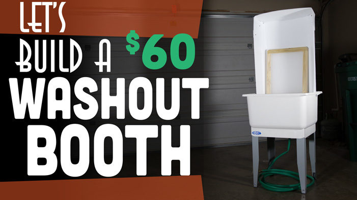 Screen Printing Wash Out Booth
